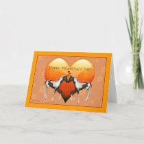 Horses in Love Valentine's Day Blank Card