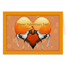 Horses in Love Valentine's Day Blank Card