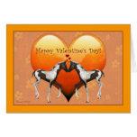 Horses in Love Valentine's Day Card