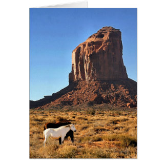 Horses in Monument Valley Greeting Card