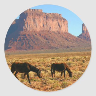 Horses in Monument Valley Stickers