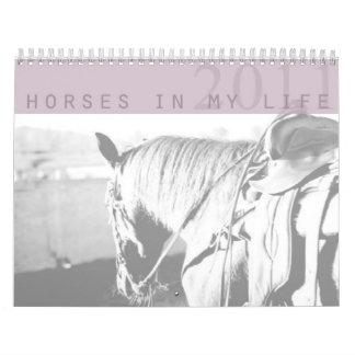 Horses In My Life 2011 Calender Wall Calendar