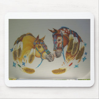 Horses in Pastel Duo Mouse Pad