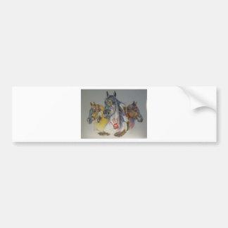Horses in Pastel  Trio Bumper Sticker