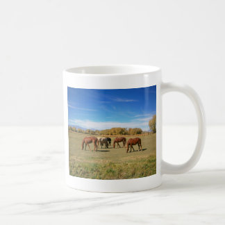 Horses In Pasture Coffee Mug