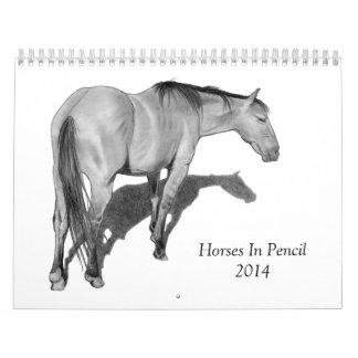 Horses in Pencil: 2014 Calendar