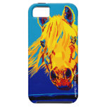 Horses in Primary by Shai Steiner iPhone 5 iPhone SE/5/5s Case