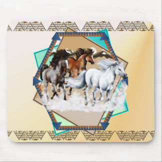 Horses In Snow  Mousepad