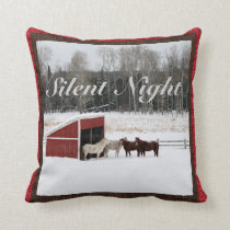 Horses in Snow pillow