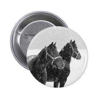 Horses in Snowfall Pins