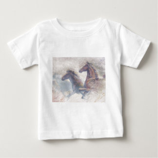 Horses In Stampede Baby T-Shirt