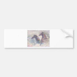 Horses In Stampede Bumper Sticker