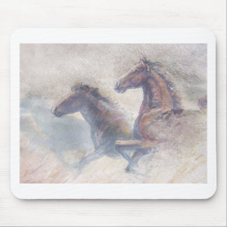 Horses In Stampede Mouse Pad