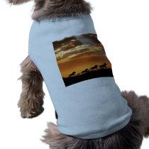 Horses in sunset T-Shirt