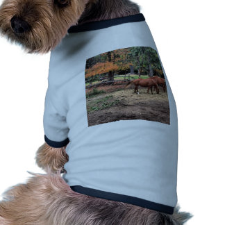 Horses in the Fall Doggie Shirt
