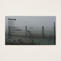 Horses In The Fog Business Card