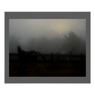 Horses in the Fog Posters