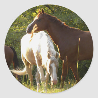 Horses in the Meadow Stickers