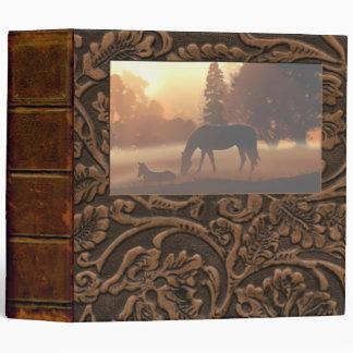 """Horses in the Morning Fog-2"""" 3 Ring Binder"""