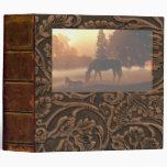 """Horses in the Morning Fog-2"""" Vinyl Binder"""