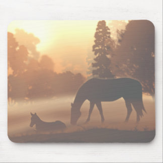 Horses in the Morning Fog Mouse Pad
