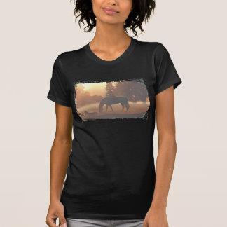 Horses in the Morning Fog T-shirts