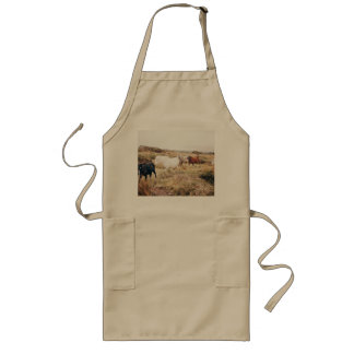 Horses in the Nature Long Apron