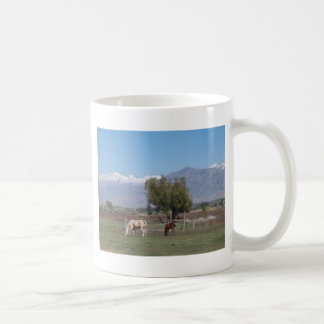Horses In The Pasture Classic White Coffee Mug
