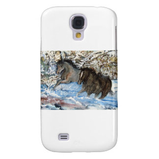 Horses in the Snow Galaxy S4 Cover