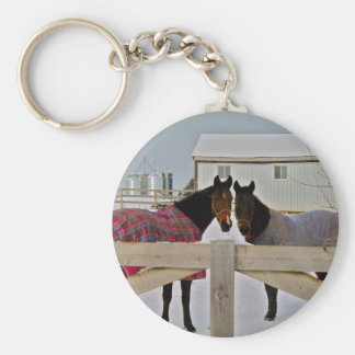 Horses in the Snow Series 2 Keychain