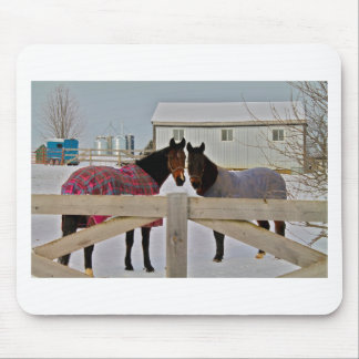 Horses in the Snow Series 2 Mouse Pad
