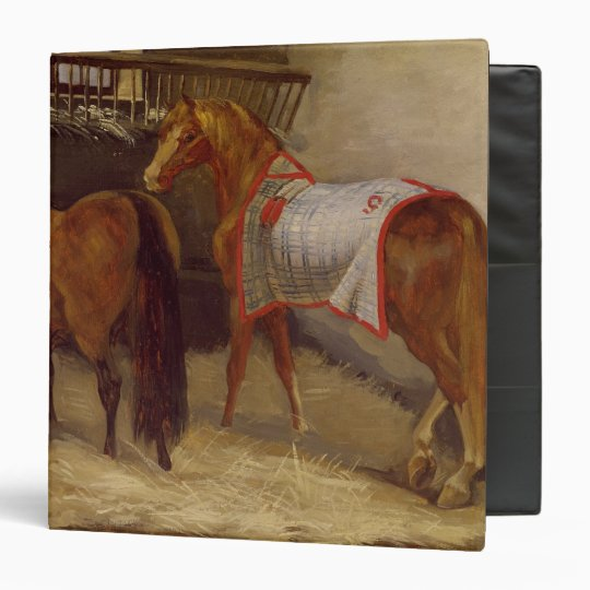 Horses in the Stables 3 Ring Binder