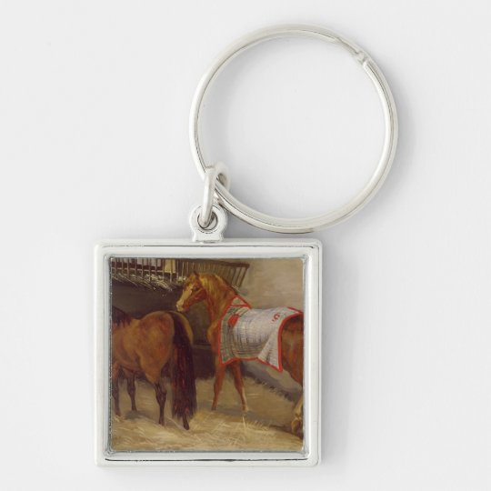 Horses in the Stables Keychain
