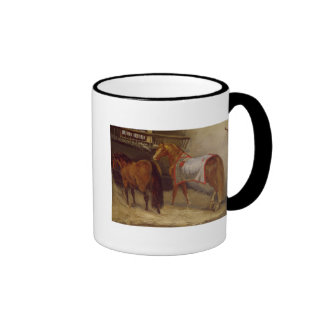 Horses in the Stables Coffee Mug