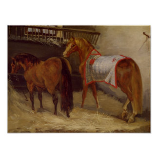 Horses in the Stables Posters