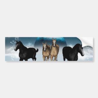 Horses in the universe car bumper sticker