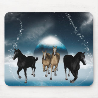 Horses in the universe mouse pad