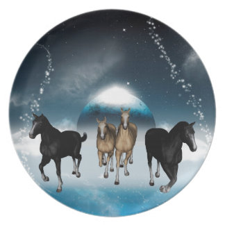 Horses in the universe party plates