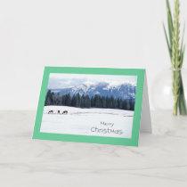 Horses in Winter, Idaho, Christmas Holiday Card