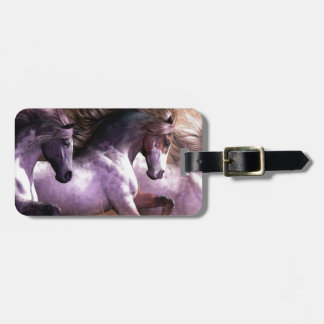 horses.jpg etiqueta de equipaje