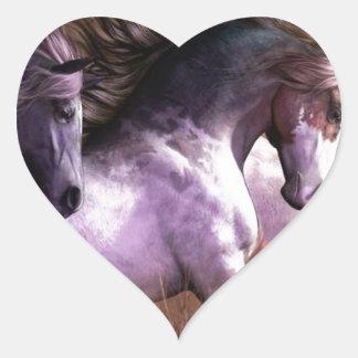 horses.jpg heart sticker