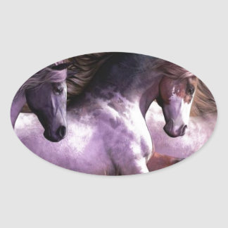 horses.jpg oval sticker