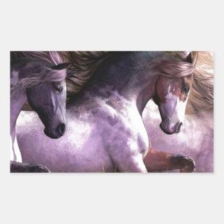 horses.jpg rectangular sticker
