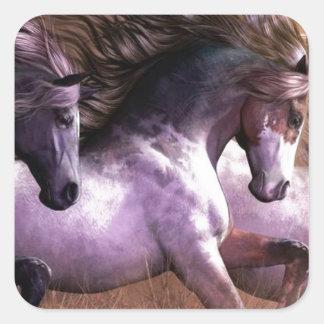 horses.jpg square sticker