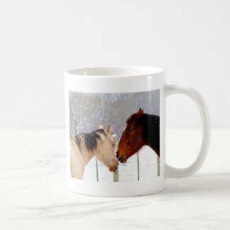Horses Kissing Coffee Mug