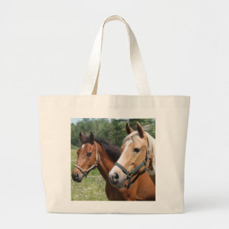 Horses Large Tote Bag