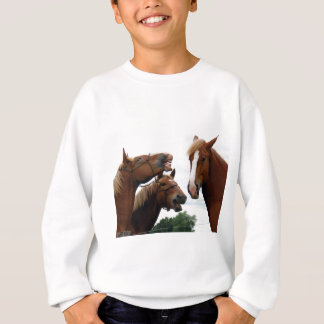 Horses laughing sweatshirt