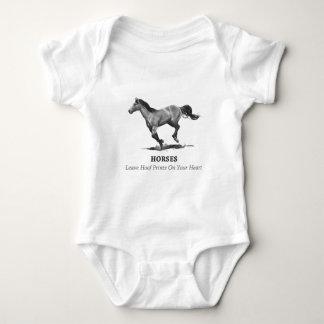 Horses Leave Hoof Prints on Heart: Pencil Baby Bodysuit