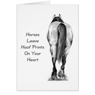 Horses Leave Hoofprints On Your Heart: Pencil Art Cards