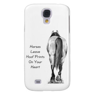 Horses Leave Hoofprints On Your Heart: Pencil Art Galaxy S4 Case